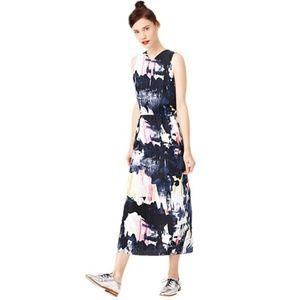 Kate Spade Saturday Split Decision Silk Midi Dress